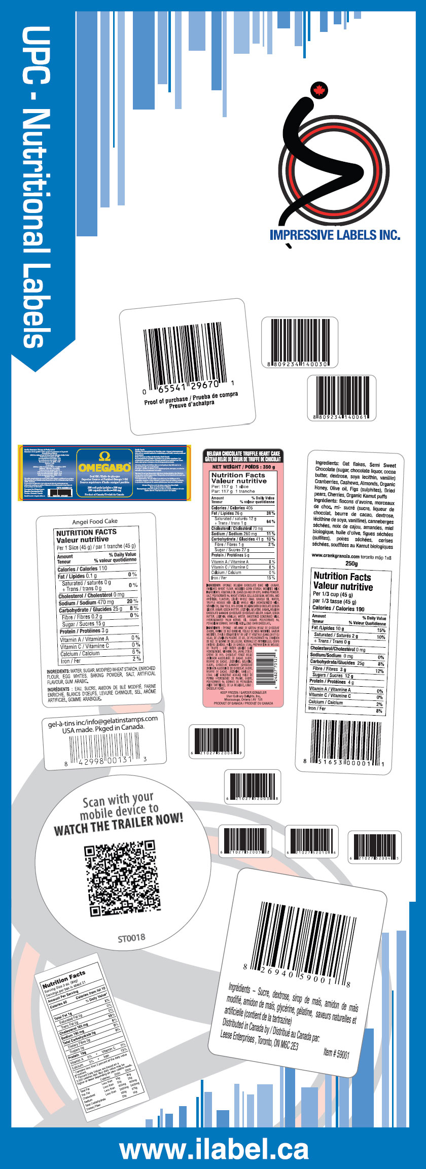 UPC Nutritional Labels